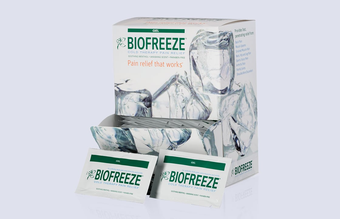 BIOFREEZE Pain Relieving Gel, 5g Travel Packets - 100 Count
